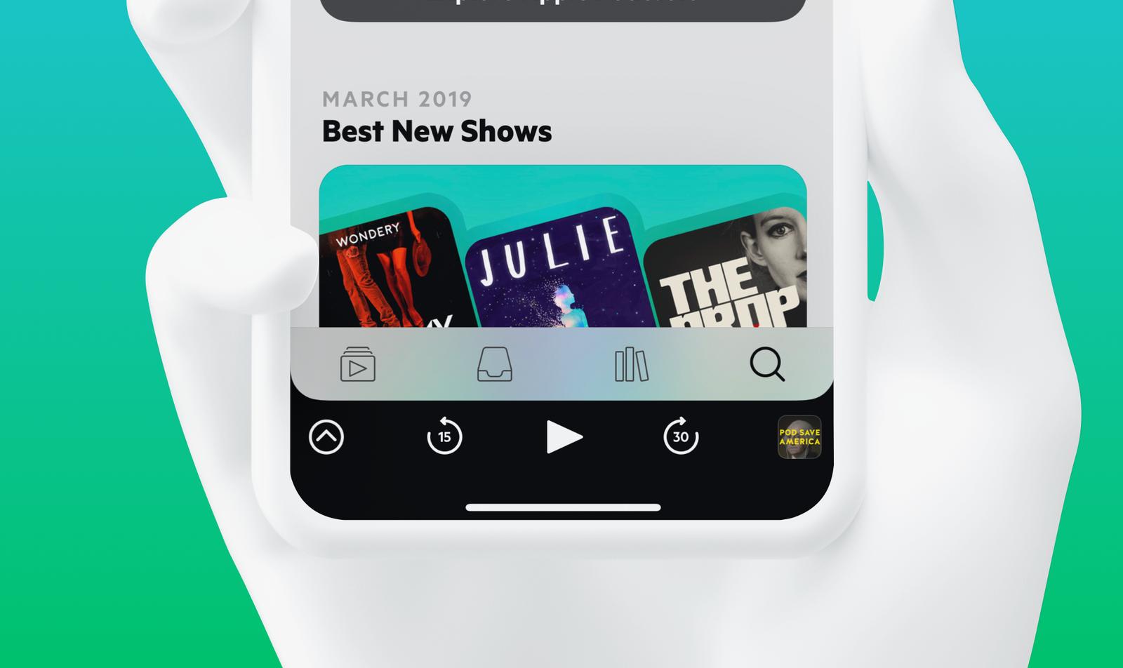 Tiny Logo and Castro app icon on blue background